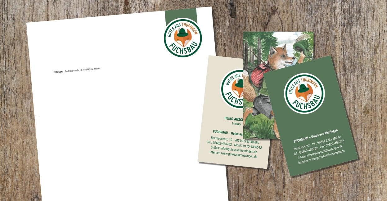 Fuchsbau_Briefpapier_Visitenkarten